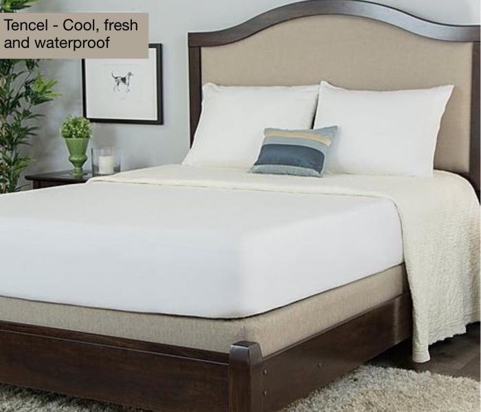 Cool, natural, waterproof mattress and pillow protectors