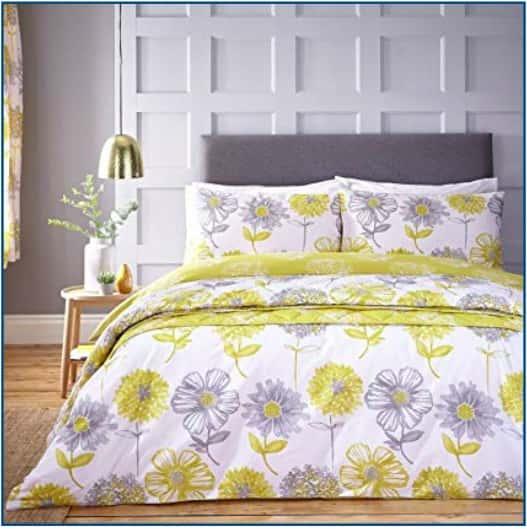 Banbury Floral Duvet Set Yellow