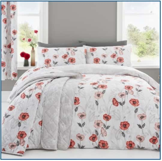Fliss Red Duvet Set