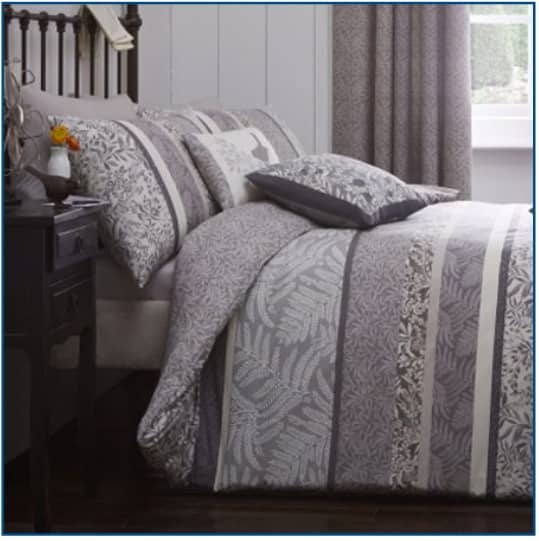 Hanworth Duvet Set Charcoal
