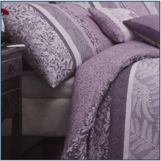 Heather duvet set with floral and leaf design