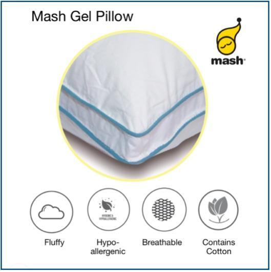 Medium-soft cluster fibre, down feel pillow