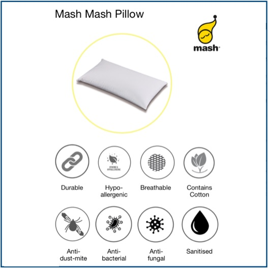 Firm hollow fibre pillow with removable cover