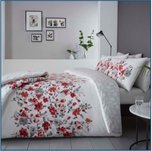 Gabriella Red Duvet Set