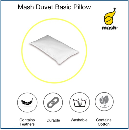 Medium-firm feather and down pillow