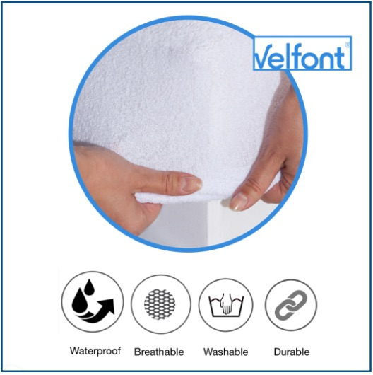 Terry towelling, breathable waterproof mattress protector