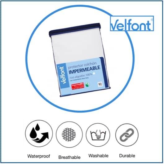 Velfont Aloe Vera Waterproof Mattress Protector 2