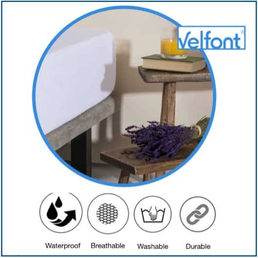 Velfont Aloe Vera Waterproof Mattress Protector