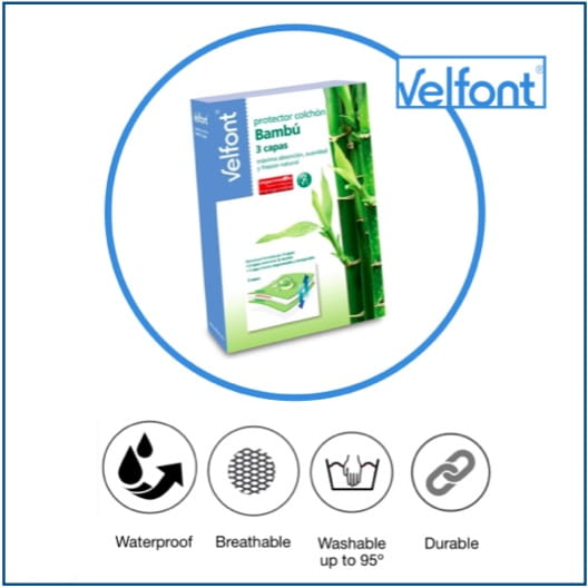 Velfont Bambú 3 Capas Mattress Protector
