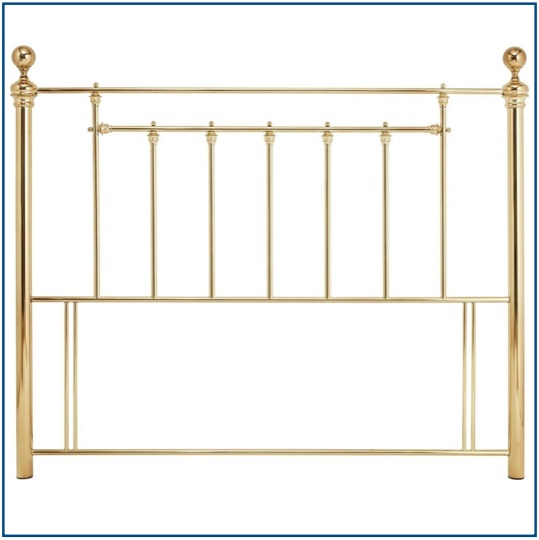 Classic design metal headboard in brass