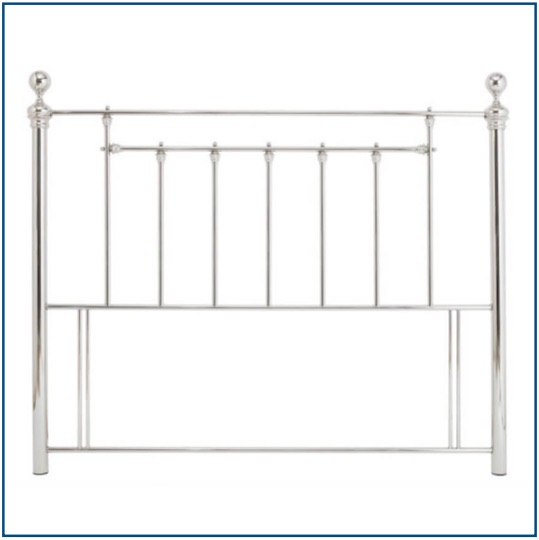 Classic design metal headboard in nickel