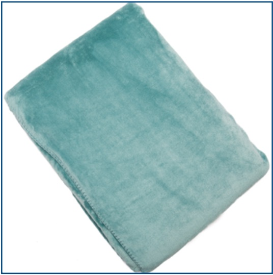 Velvet duck egg blue cosy throw