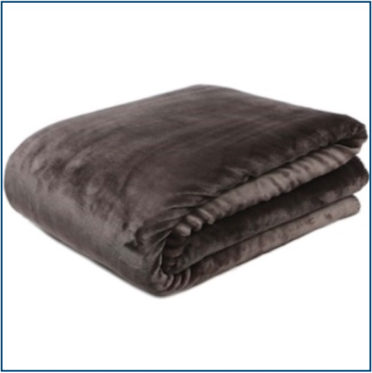 Velvet slate grey throw