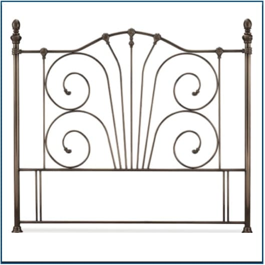 Jessica Antique Nickel Headboard