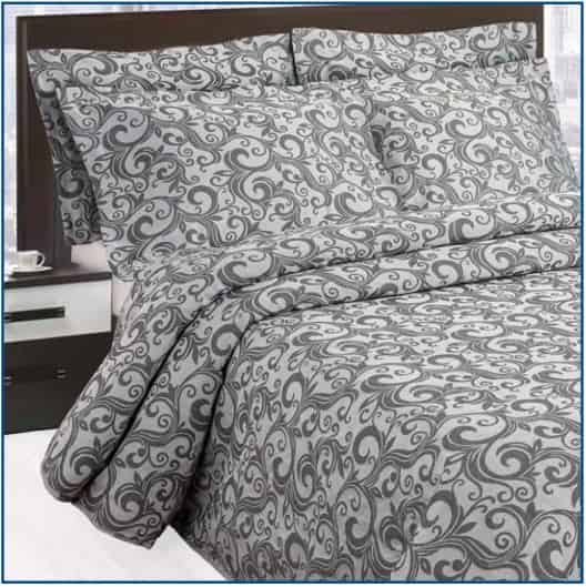 Scroll Charcoal Bedspread