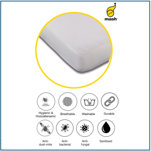 Soft, fine waterproof mattress protector made from sustainable fabric