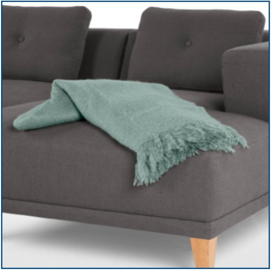Duck egg blue cosy throw