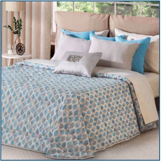 Voltaire Bedspread Blue
