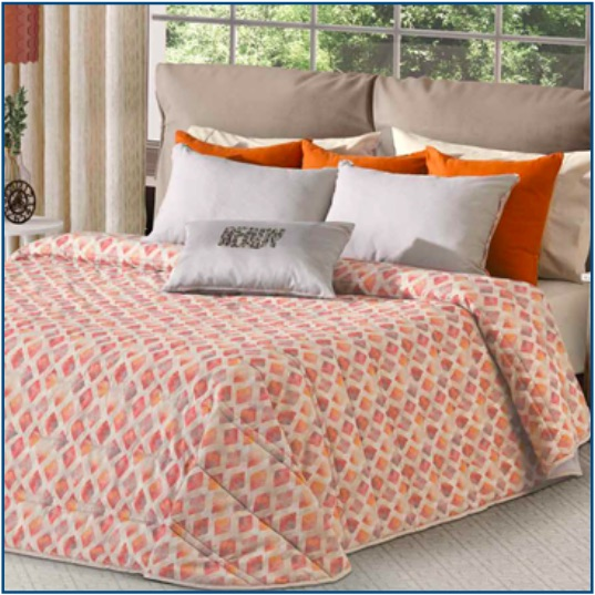 Orange Morrocan inspired bedspread