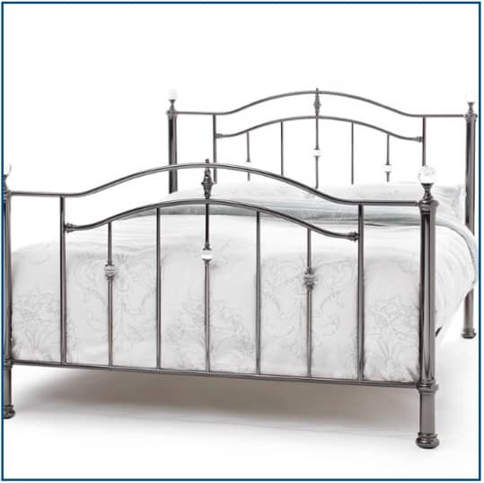 Ashley Black Nickel Bedstead