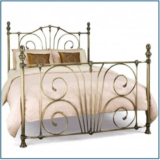 Jessica Antique Brass Bedstead