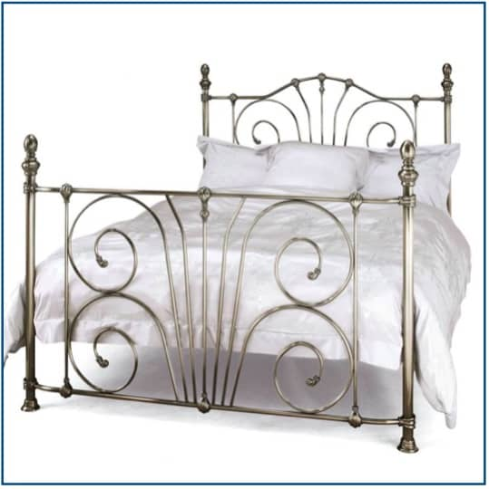 Jessica Antique Nickel Bedstead