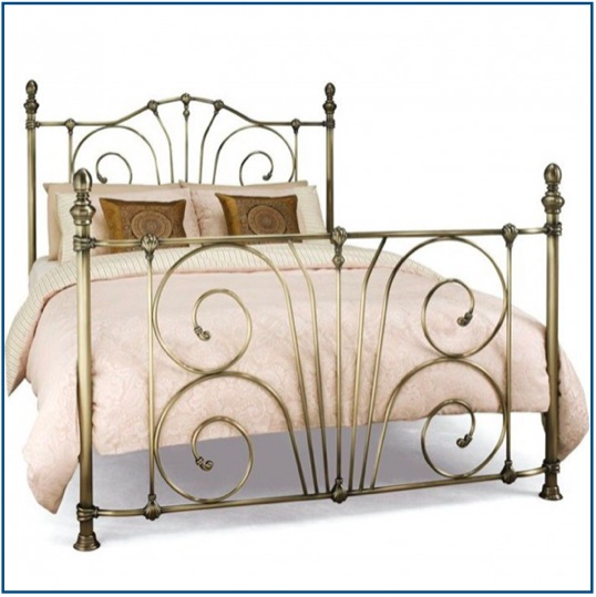 Intricate design brass bedstead