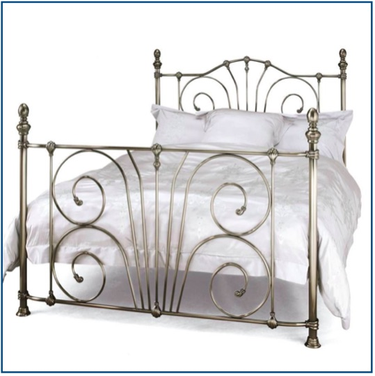 Intricate design nickel bedstead