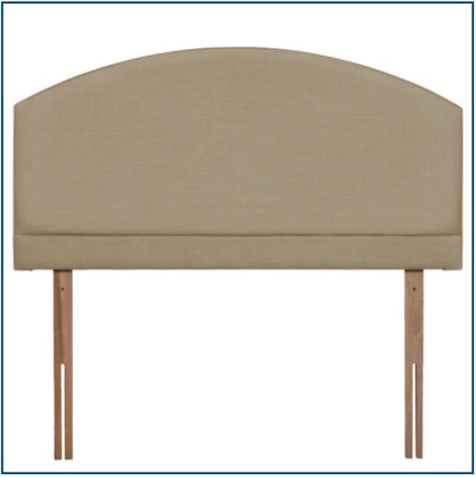 Beige curved strutted headboard with pillow panel