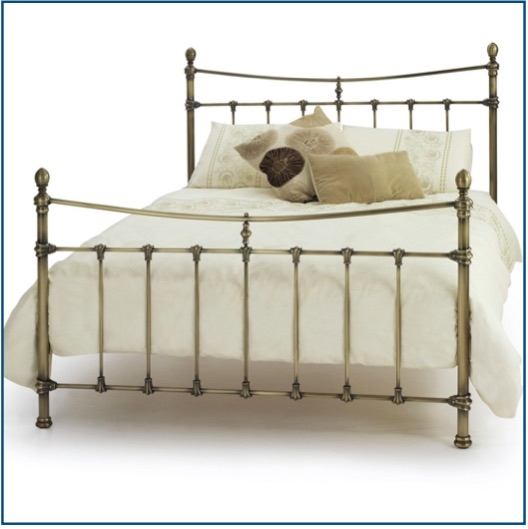 Traditional style antique brass bedstead