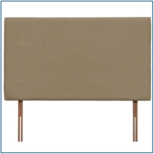Plain tall beige upholstered rectangular headboard