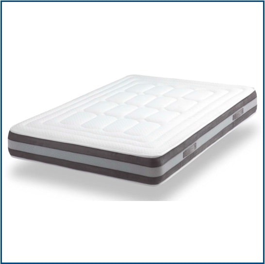 Reversible open coil spring mattress with memory foam
