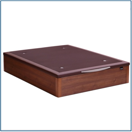 Dark wood lift up storage ottoman base