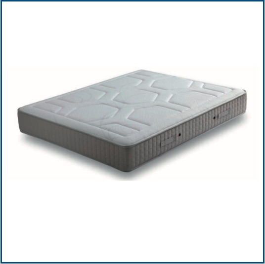 Medium-firm, open coil spring mattress with breathable memory foam on both sides