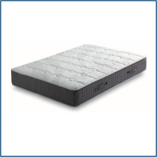 Firm and strong open coil spring mattress with breathable memory foam on both sides