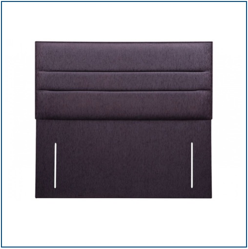 Dark grey contemporary, upholstered floor standing headboard with horizontal panelling