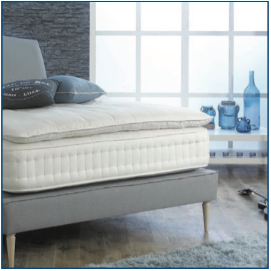 Burgess Blenheim pocket spring mattress with pocket spring mattress with cotton, white fibres, lambswool and hessian filling