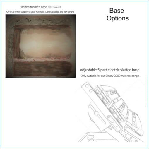 Burgess Bedstead Base Options