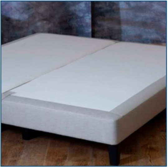 Burgess neutral upholstered shallow divan base on legs