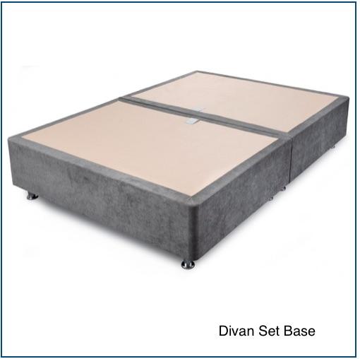 Grey upholstered divan set base