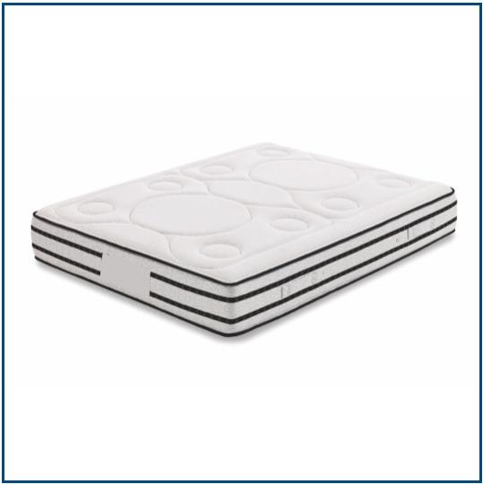 Medium feel, reversible pocket spring mattress with breathable memory foam.