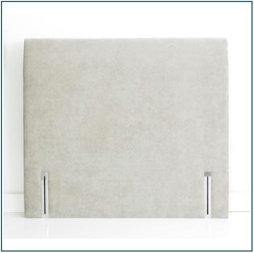 Upholstered neutral colour floorstanding headboard