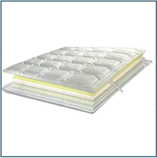 Summer and winter sided combination mattress topper