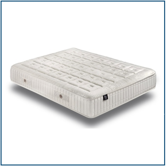 Reversible pocket sprung mattress and layers of breathable high density foam and memory foam