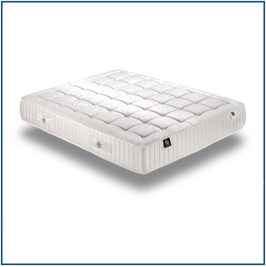 Summer and winter sided mattress with pocket springs and natural fibres