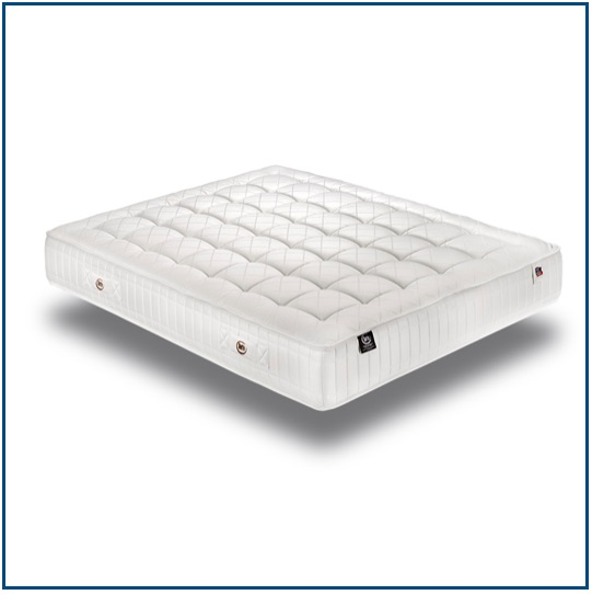 Summer and winter sided mattress with pocket springs, natural fibres and latex