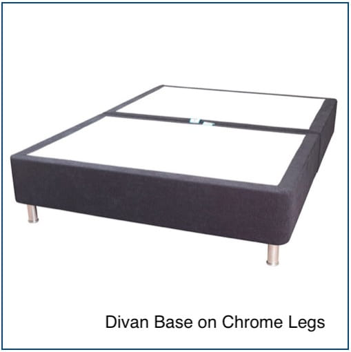 Sweet Dreams Divan Base on chrome legs