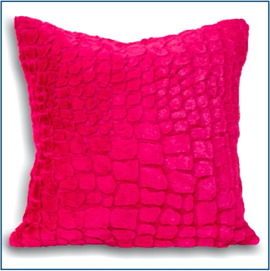 Fluffy, hot pink textured cushion cover