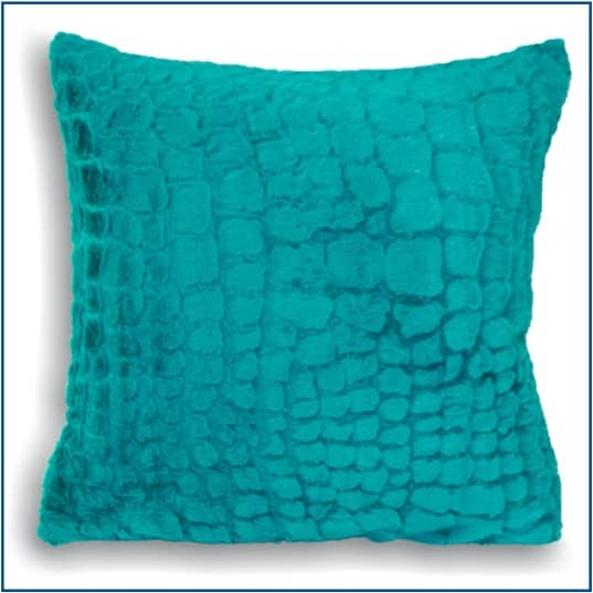 Alligator Teal Cushion Cover
