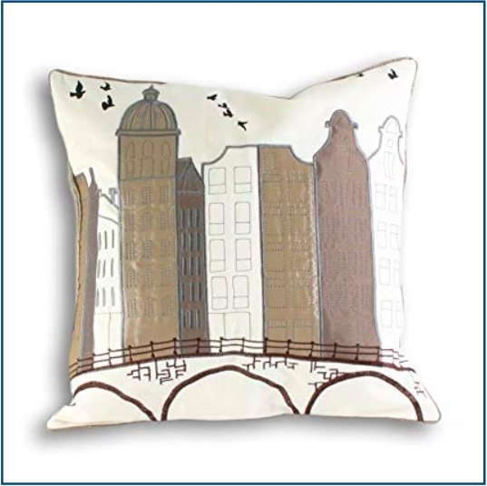 Amsterdam scene cushion cover